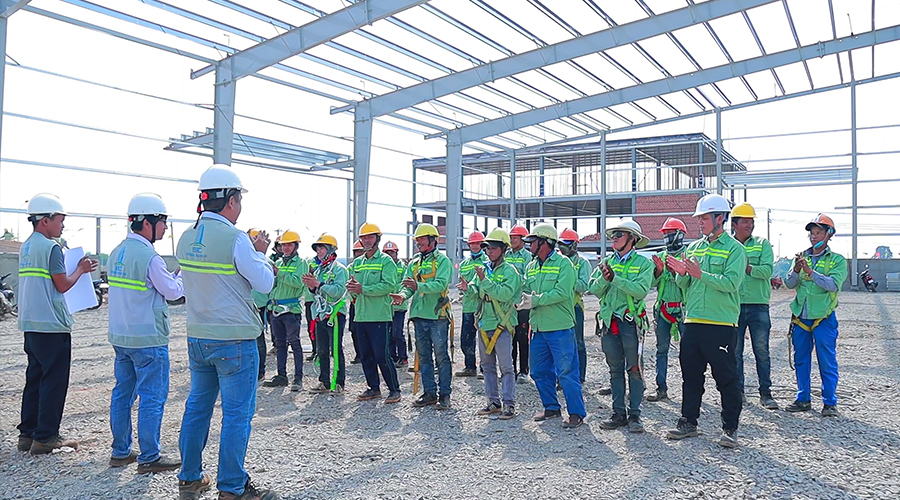Construction and Installation of Steel Structure Factory Project Viet My Dong Nai